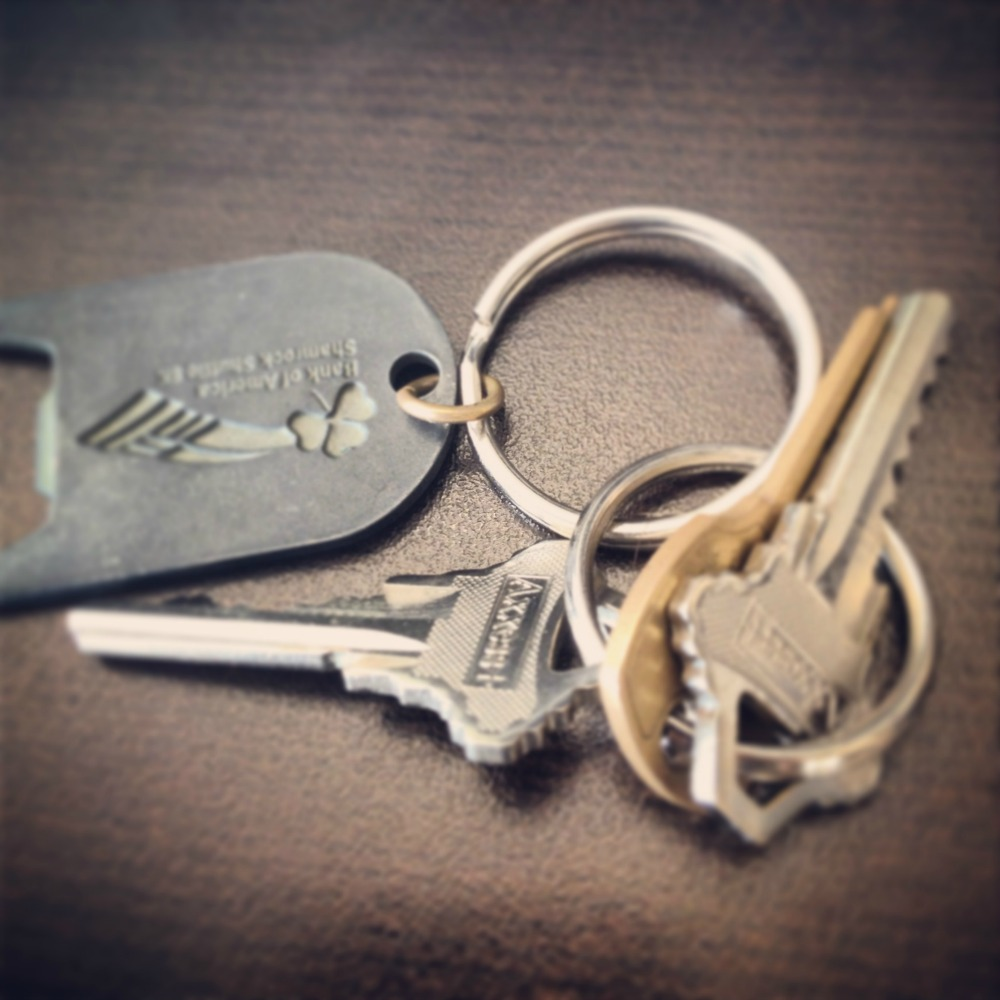 These are the keys that should have been in my pocket instead of chillin' on the counter.