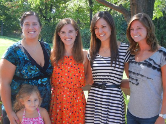 Some of my cousins at my Cincinnati bridal shower.