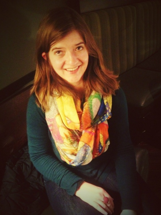 Meet Laura, she has excellent taste in scarves (and most other things, but this picture highlights the scarf)